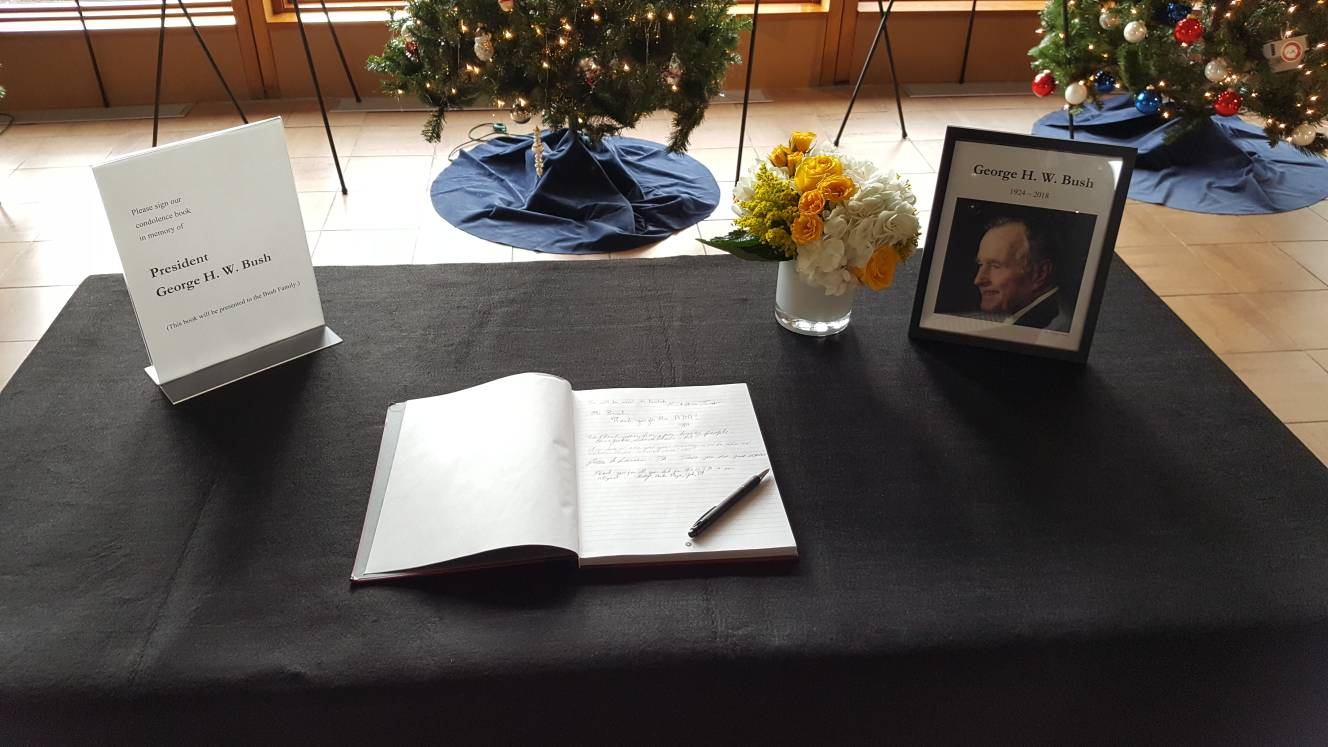 George H.W. Bush Condolence Book