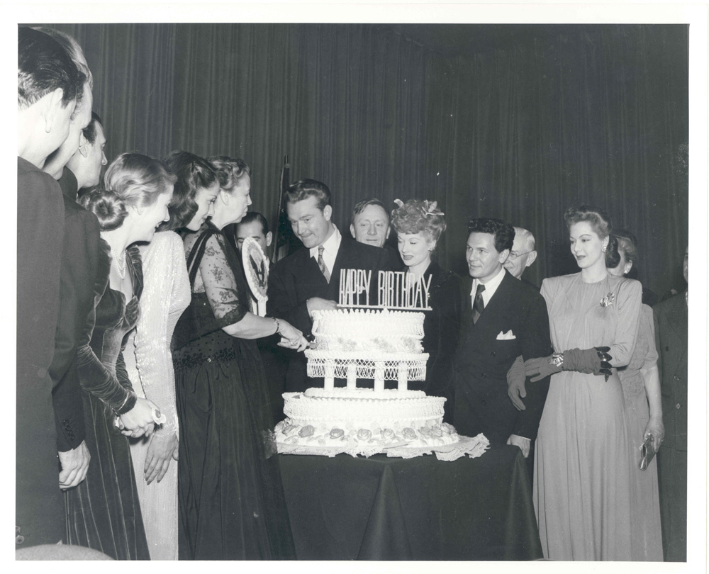 Celebrities attend birthday cake cutting