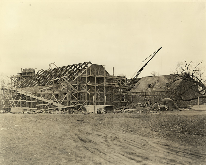FDR Library under construction, 1939