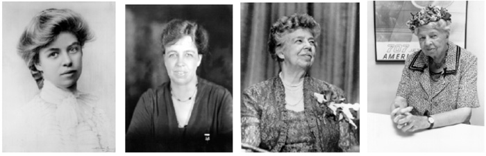 Pictures of Eleanor Roosevelt throughout the years