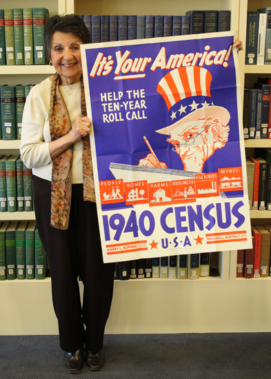 1940 Census poster from the Harry Hopkins Papers
