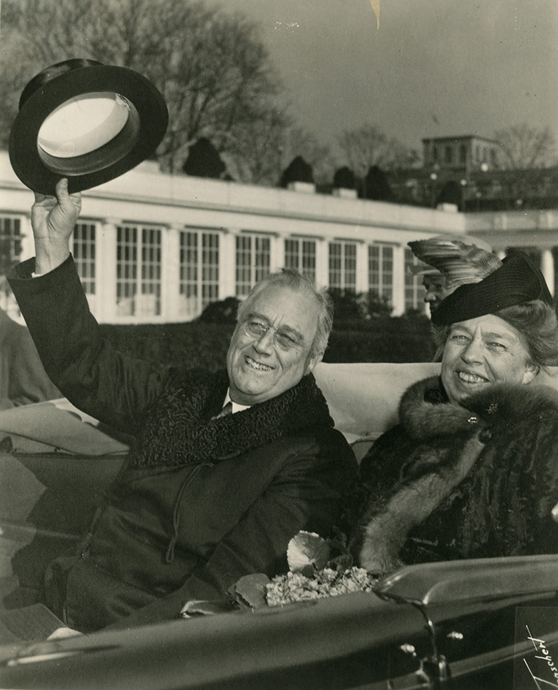 Franklin and Eleanor at the 1941 inauguration