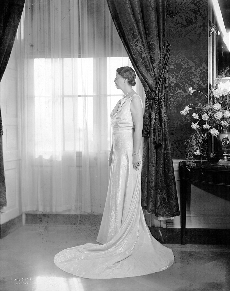 Portrait of Eleanor Roosevelt in Inaugural Gown