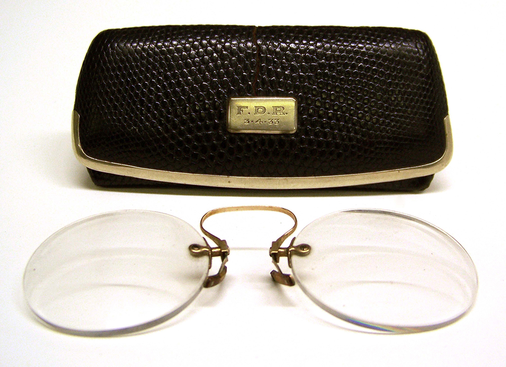 Eyeglasses worn by FDR during first inauguration