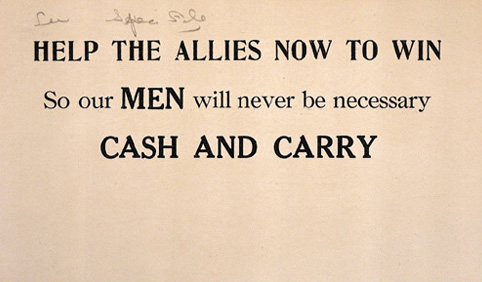 Postcard supporting aid to allies