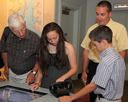 Map Room interactive in the Library's new permanent exhibit