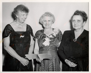 Eleanor Roosevelt, Katharine Lenroot and Frances Perkins
