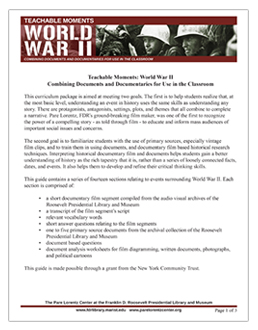 World War II curriculum guide