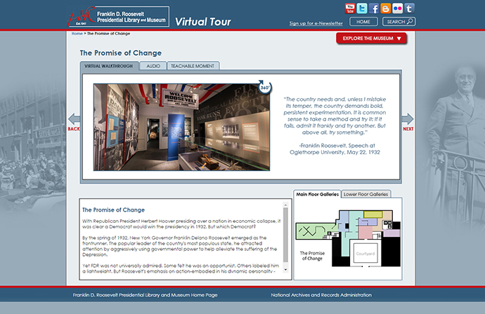 Screenshot of Virtual Tour