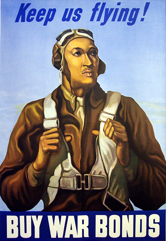 Tuskegee pilot on WW2 Bond Poster